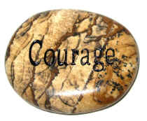 Courage Word Stone
